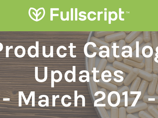 Product Catalog Updates (Canada) - March 2017