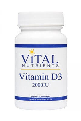 Vitamin D3 2000iu by Vital Nutrients