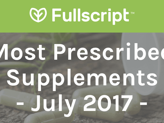 Most Prescribed Supplements - July 2017