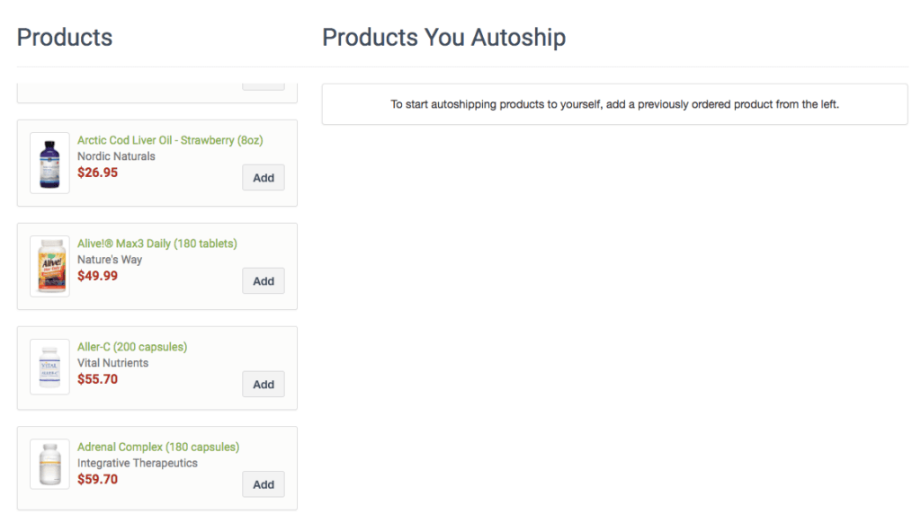 fullscript-autoship-supplements