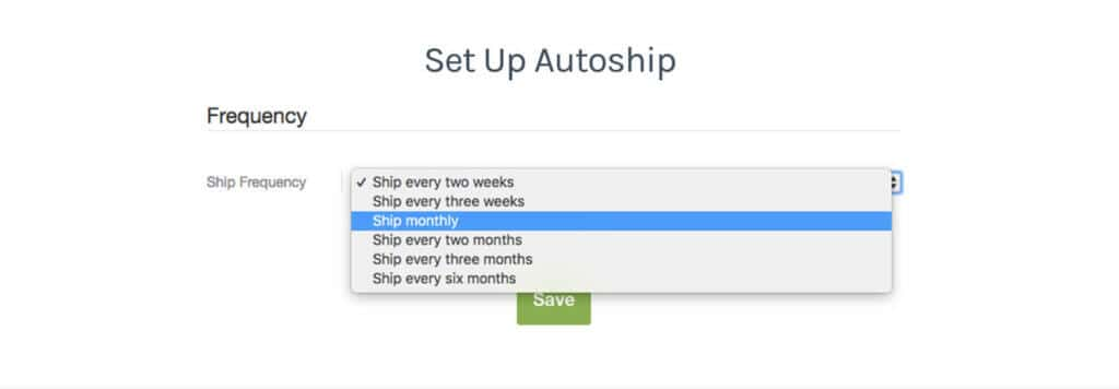 set up autoship - patient view fullscript
