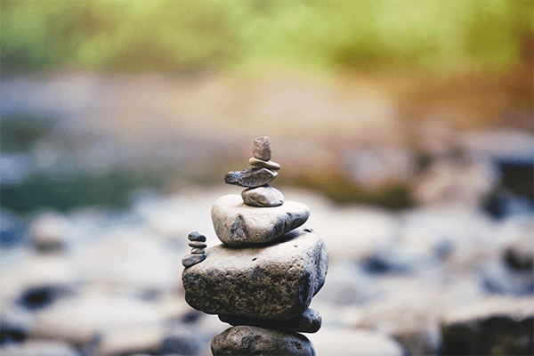 Stone on top of one another to show balance