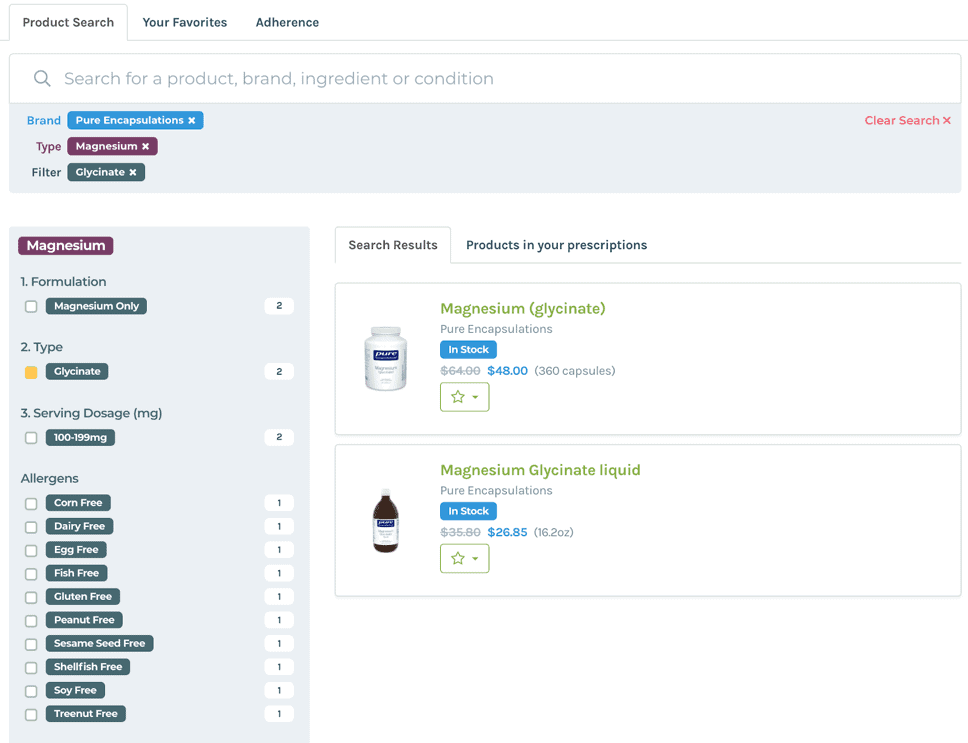 Fullscript-search