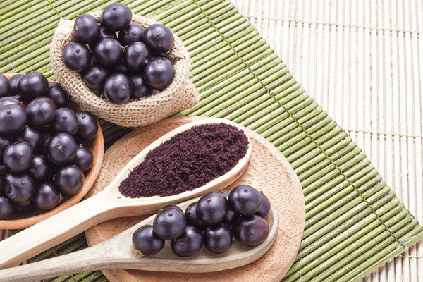 acai fruit and acai powder