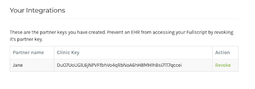 jane integration: copying your clinic key