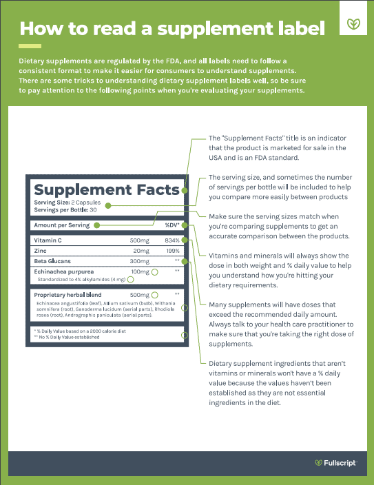 Fullscript - How to Read a Supplement Label