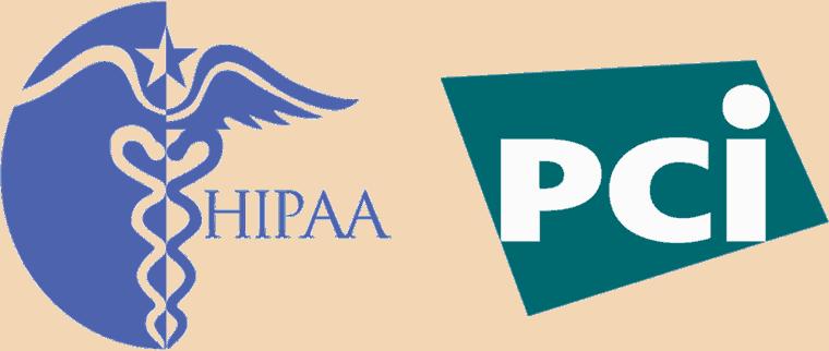 HIPAA and PCI Logos