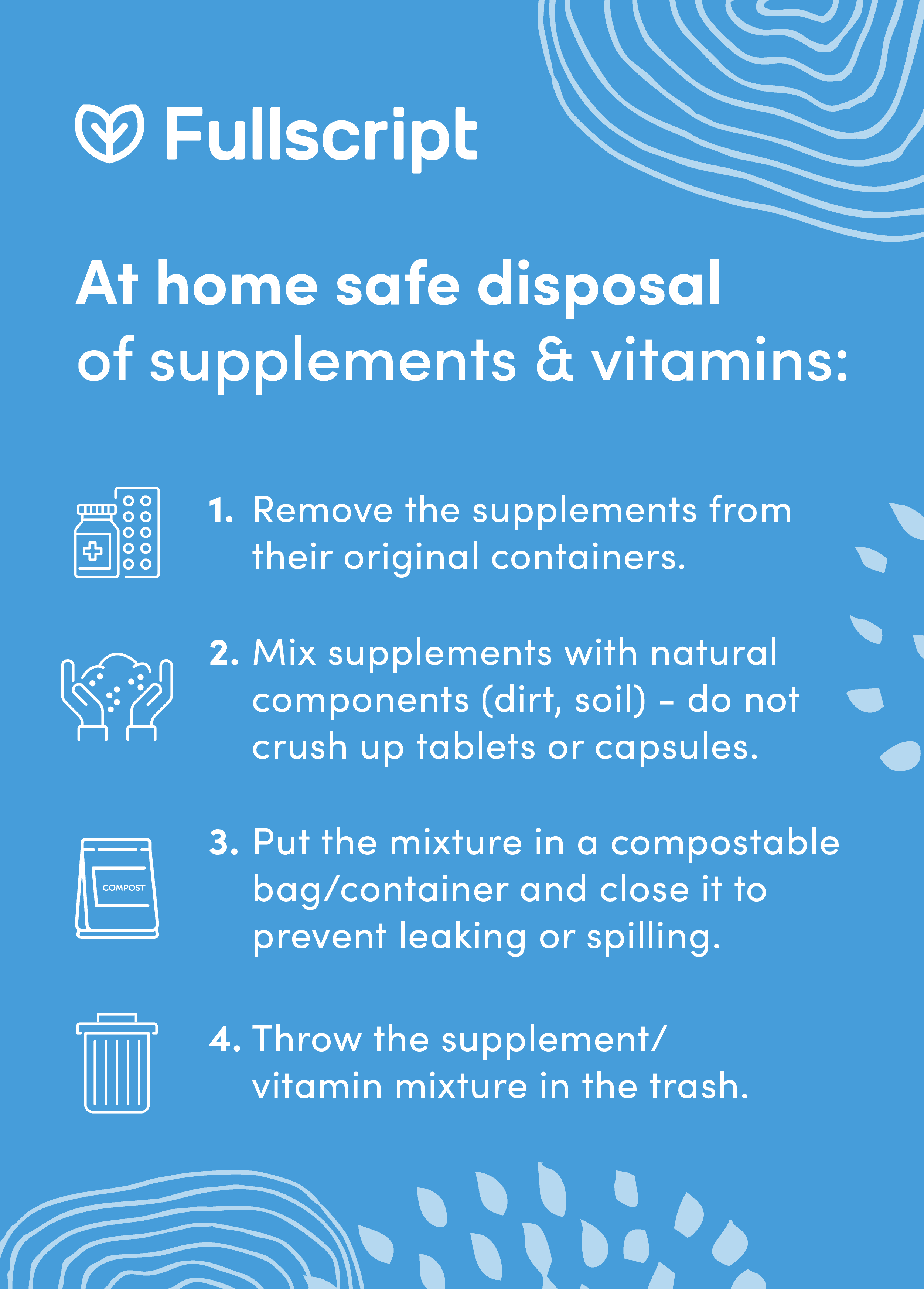 text about at home disposal of supplements