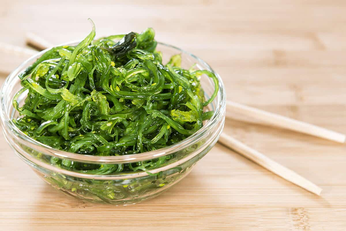 seaweed salad in a bowl