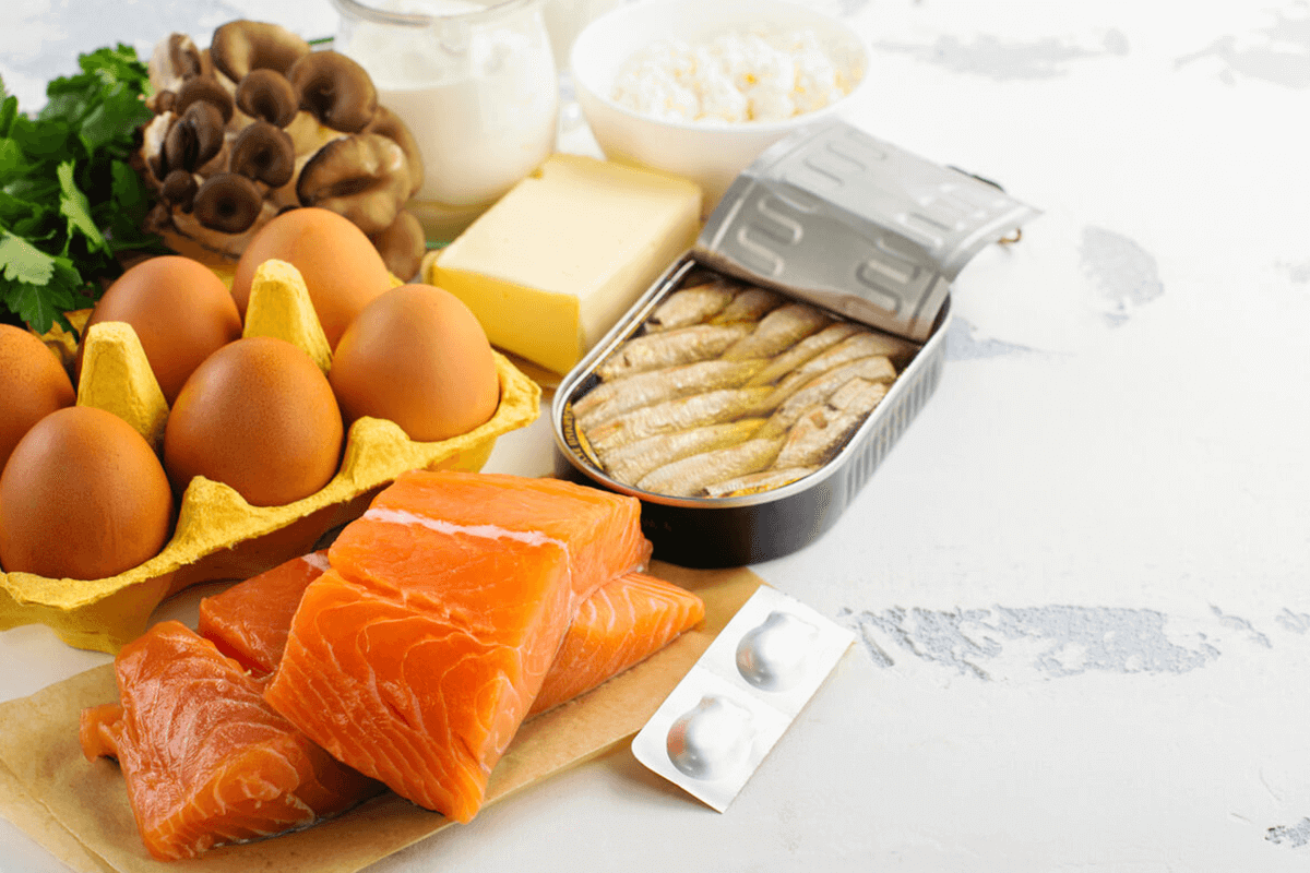 variety of raw foods that contain high amounts of vitamin d