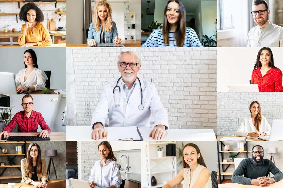 practitioner talking to patients online