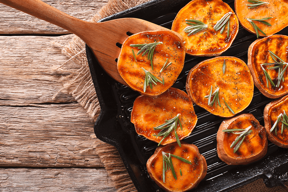 Sweet potatoes support healthy vision, boost the immune system and promote gut health.