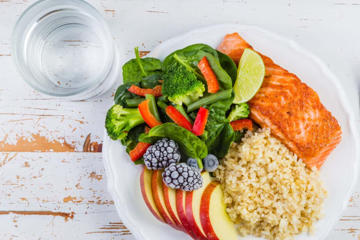 Image of healthy food on a plate