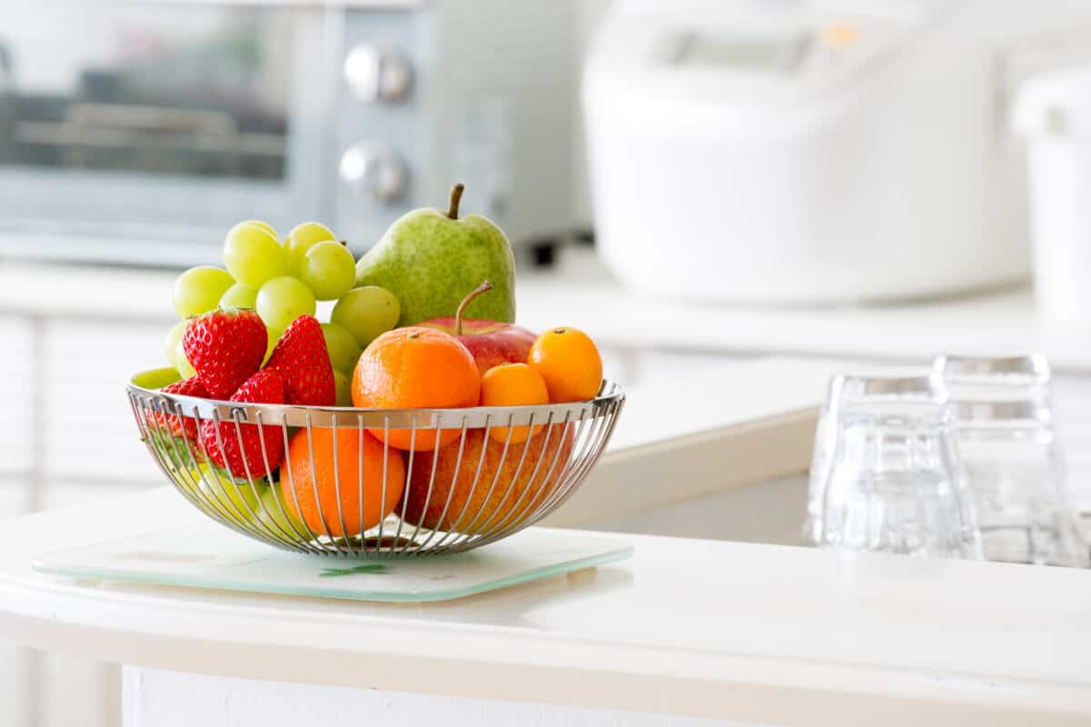 Image of fruit bowl sitting on counter top