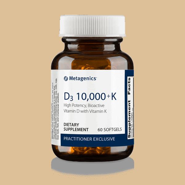 Metagenics D3 10,000 + K