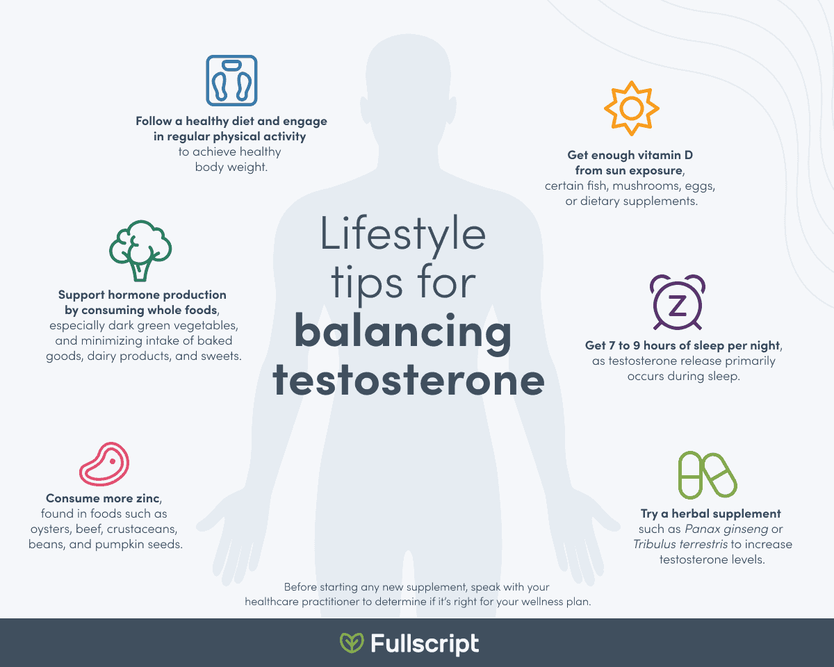 Lifestyle tips for balancing testosterone