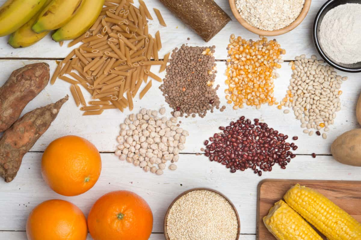 Carbohydrate-rich whole foods