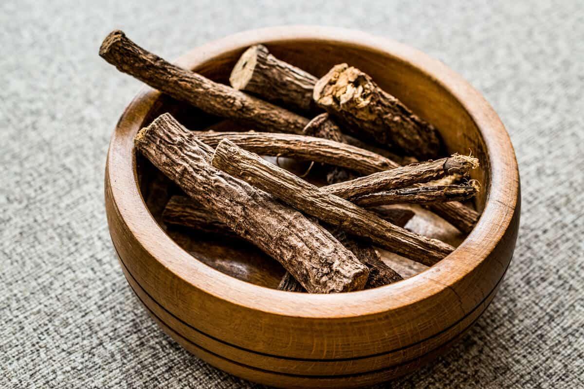 Medicinal herbs in a bowl