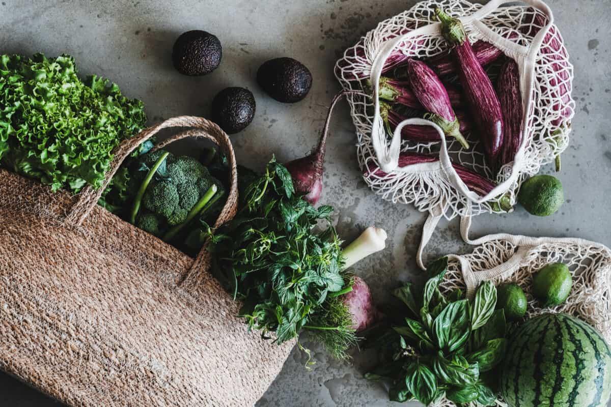 Vegetables high in fibre