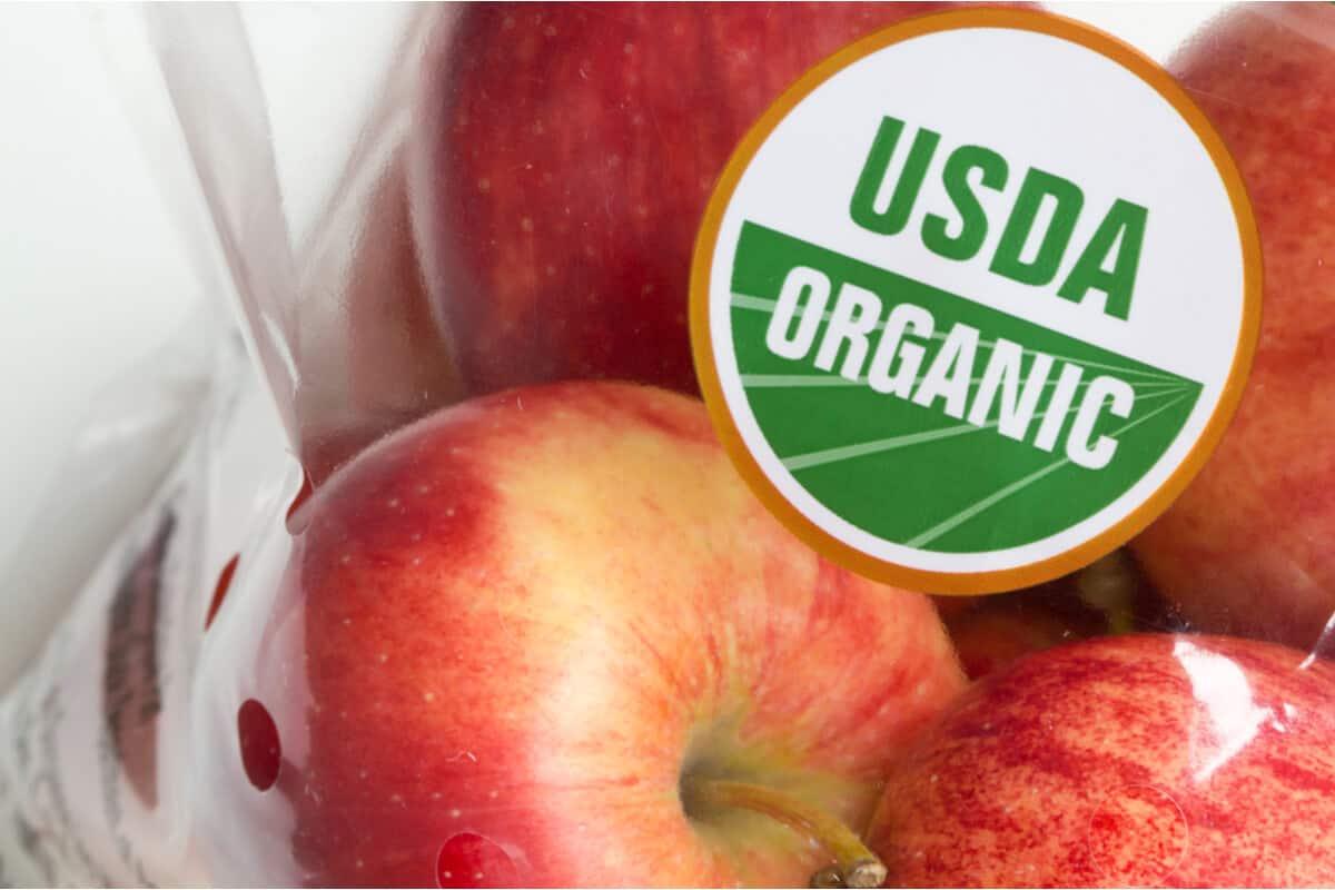 Package of organic apples