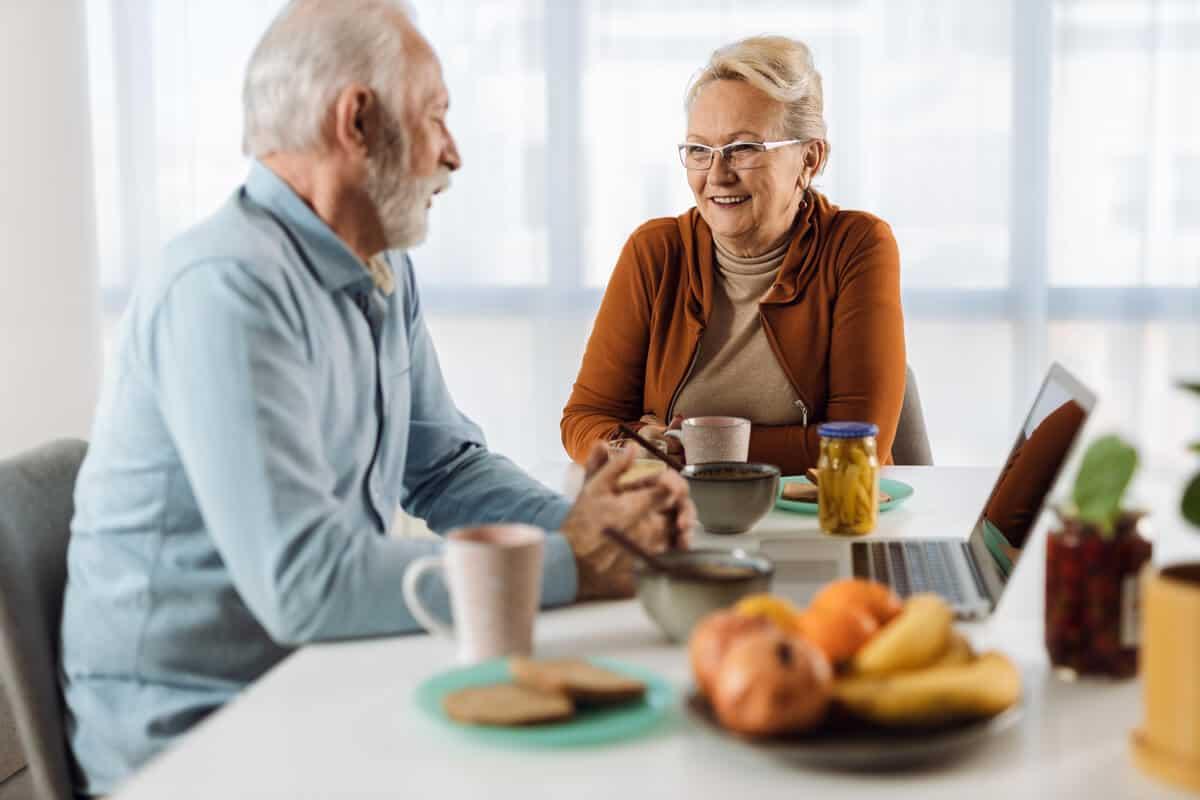 Phenylalanine elderly couple eating