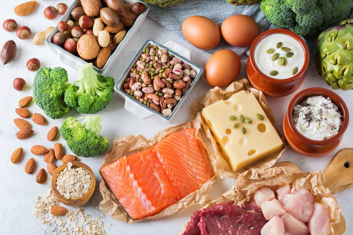 best protein sources mix of plant and animal protein on table