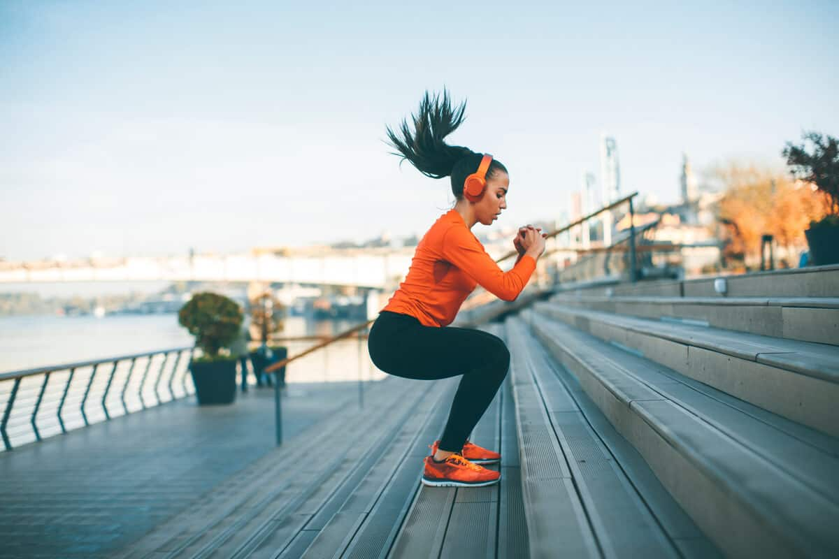 Dhea woman exercising