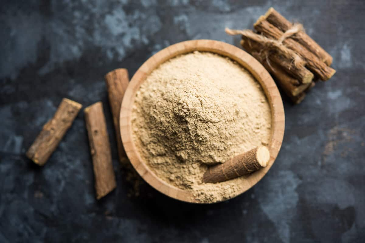 Immune health supplements ground licorice root